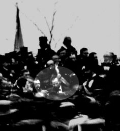 The nnly known picture of Lincoln at Gettysburg while giving his Gettysburg Address.