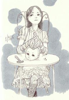 """her name is Alice~"" Adventures In Wonderland, Alice In Wonderland, Creepy Games, Alice Liddell, Alice Madness Returns, Sketchbook Inspiration, Halloween Horror, Character Design Inspiration, Surreal Art"