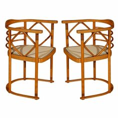 Chapter 20 - Vienna Secession - Josef Hoffman Chairs. simple, rounded