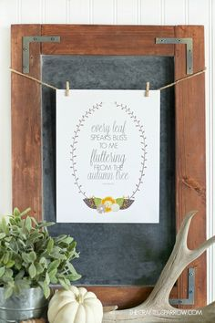 """Every leaf speaks bliss to me fluttering from the autumn tree."" - Free Fall Printable from @craftedsparrow"