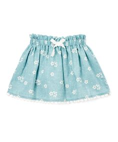 Another great find on #zulily! Leighton Alexander Chambray Floral Bow-Accented Skirt - Kids by Leighton Alexander #zulilyfinds