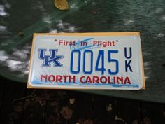 North Carolina UK license plates are now available thanks to the hard work of our alumni clubs in NC!
