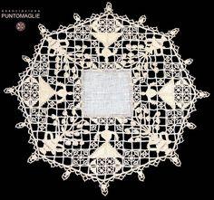 un sotto piatto per la tavola, Bolsena 2005 - 3° premio. Reticello, Punto Maglie.