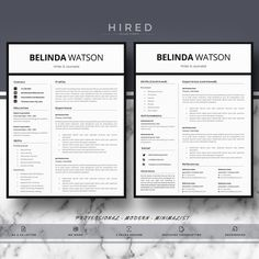 Microsoft Word Resume Template For Mac Letal Resume Template For Word Madison  100% Editable Instant .