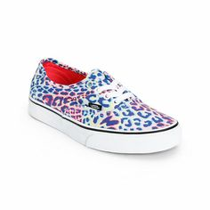 Vans Girls Authentic Multicolor Leopard Print Shoe