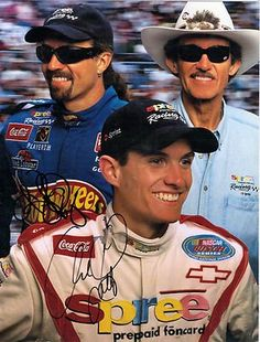 1999 Autographed Kyle And Adam Petty With Richard Petty Spree Postcard ...