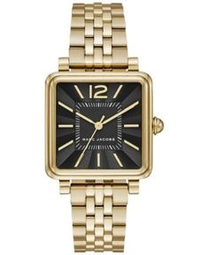 Marc by Marc Jacobs Women's Vic Gold-Tone Stainless Steel Bracelet Watch 30mmx30mm MJ3516 - Black