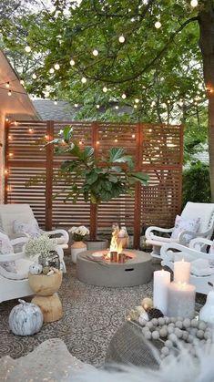 Small Outdoor Patios, Small Backyard Patio, Backyard Patio Designs, Backyard Landscaping, Outdoor Living, Outdoor Decor, Patio Ideas, Backyard Ideas, Landscaping Design