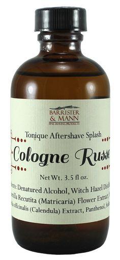 Barrister & Mann Cologne Russe Aftershave Splash Shaving & Grooming, Wet Shaving, Aftershave, Calendula, Cologne, Whiskey Bottle, Alcohol, Personal Care, Drinks