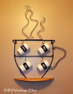 DIY Vintage Chic: Chalkboard Coffee Mugs