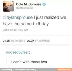 i love the sprouse twins