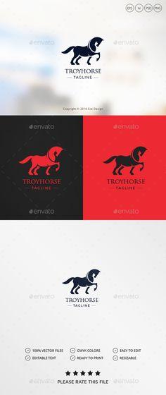 Horse Logo: Animal Logo Design Template by Exe-Design. Logo Design Template, Logo Templates, Logos, Logo Branding, Horse Cards, Horse Logo, Best Logo Design, Animal Logo, Cool Logo