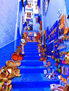 Emmy DE * The Blue City ~ Chefchaouen, Morocco – travel Places Around The World, Oh The Places You'll Go, Travel Around The World, Places To Travel, Places To Visit, Travel Destinations, Morocco Travel, Africa Travel, Visit Morocco