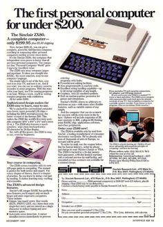 1980 Sinclair ZX80 Computer Advertisement.
