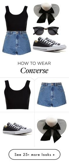 """""""#292"""" by mahira-muminovic on Polyvore featuring Calvin Klein Collection, Glamorous and Converse"""