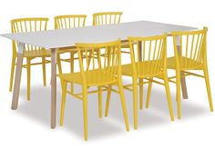 Functionality and simple, clean lines is what has defined Danish design over the decades. These elem. Table And Chairs, Dining Chairs, Dining Table, White Table Top, Outdoor Tables, Outdoor Decor, Light Oak, Danish Design, Clean Lines