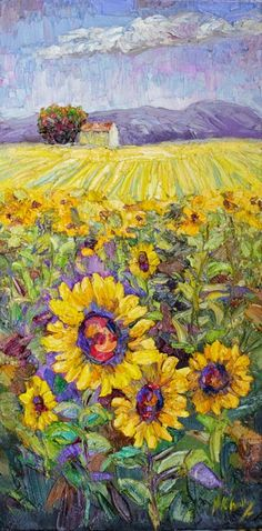 "Contemporary Artists of Texas: Just Sold! ""Sun Filled Dreams"" Sunflower Palette Knife Painting by Niki Gulley"