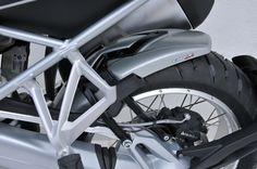 Metallic grey hugger with aluminium fitting