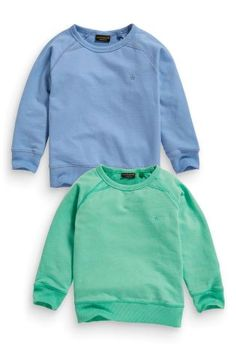 Buy Two Pack Green And Blue Crew Neck Tops (3mths-6yrs) online today at Next: New Zealand