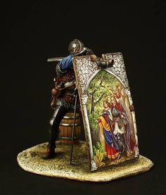 Alexey Buriak Armadura Medieval, Military Figures, Toy Soldiers, Figure Painting, Romans, Sculpture Art, Renaissance, Celtic, Models