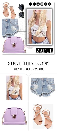 """Zaful.com 11"" by aida-nurkovic ❤ liked on Polyvore featuring One Teaspoon, Elina Linardaki, Le Specs and zaful"