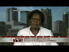 """The Fifth Little Girl"": Birmingham Church Bombing survivor, Sarah Collins (Rudolph), Addie Mae's sister was the fifth little girl in the bathroom. She lost her eye, her sister, and a perfect physical body. She has spent her life working as a house cleaner to help pay for continued medical issues."