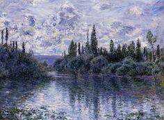 Petit Bras de la Seine à Vétheuil (C Monet - W 482),1878.
