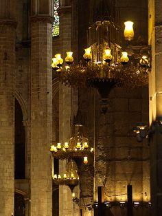 Santa Maria del Mar detall interior  Barcelona  Catalonia