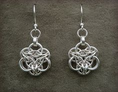 Sakura Chainmail Earrings by Rassaku on Etsy