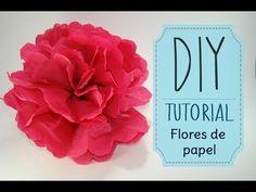 [DIY] Tutorial - Como hacer flores de papel Crepe o China - YouTube