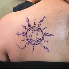 What does you are my sunshine tattoo mean? We have you are my sunshine tattoo ideas, designs, symbolism and we explain the meaning behind the tattoo. Time Tattoos, New Tattoos, Sleeve Tattoos, Tatoos, Text Tattoo, Tattoo Script, Wrist Tattoo, Mother Tattoos, Sister Tattoos