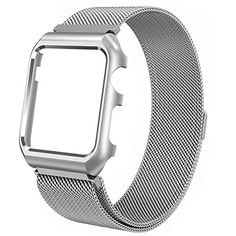Apple Watch Band, Rerii Magnetic Closure, Milanese Loop, Mesh Stainless Steel, Replacement Wrist Band with Metal Protective Case for Apple Watch Series 3 / 2 / 1, Sport & Edition 42mm   Read more at SMART News : http://www.newtabapps.com/?p=23402  Apple Watch Band Product Features  SLEEK LOOKING: It has a fine mesh texture with unique milanese loop appearance,which can dress up your apple watch perfectly.Just personalize your apple watch with this refined replacement