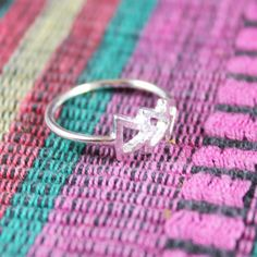 Dainty & Delicate Shiny Silver Plated Three Arrow Triangle Tribal Ring Size 6.5, in 18k Gold Plated, Silver Plated, Rose Gold Plated Finish