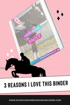 This is a guest post talking about the riding lesson journal called the My Happy Riding Lesson Binder and why she loves it. The journal is a printable pdf and has over 60 individual pages that you can print hundreds or thousands of times if you felt like it. This allows you to pick and choose the pages you want and not waste the pages you don't want to use. You are essentially creating your own custom riding lesson journal. Check out what she has to say! #horseridingjournal #horseprintables Horseback Riding Tips, Horse Training Tips, Riding Lessons, Horse Care, Binder, Equestrian, Love Her, Felt, Pdf
