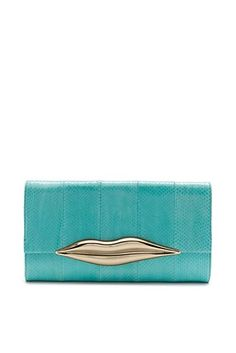 DVF   The Carolina Lips Clutch is so DVF, updated for the season in exotic snakeskin.  http://on.dvf.com/198b4P6