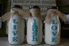 an amazing craft using old milk bottles...
