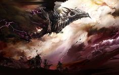 Flying Dragon from Guild Wars 2