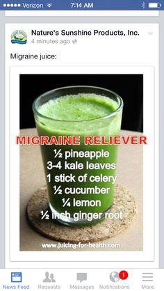 Natures sunshine recipe for migraine
