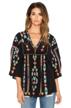 Antik Batik Babah Blouse in Black