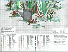 """Forgotten Basket"" cross stitch pattern by Paula Vaughan.  ---   Found on hela76.gallery.ru"