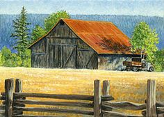Old Ford, miniature acrylic painting by Shari Erickson