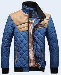 Conheça nossa Loja e Promoções:  www.compralogo.net Casaco de Inverno de Couro e Algodão Sky Blue