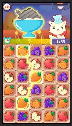 Gyazo - 6de25db01006f5750c3c20a6b22ea913 Kawaii Fruit, Android Mobile Games, Candy Games, Wild Logo, Game Effect, Game Gui, Match 3, Retro Recipes, Game Concept