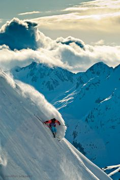 Like there's no tomorrow #Skiing -- Find articles on adventure travel, outdoor pursuits, and extreme sports at http://adventurebods.com