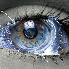 NICE eye art peace and love sir francis Blue Drawings, Art Drawings, Pretty Eyes, Cool Eyes, Fantasy Kunst, Fantasy Art, Eyes Artwork, Aesthetic Eyes, Crazy Eyes