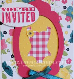 Carrie Stamps: Stampin' Up! Dress Up Framelit Swimsuit