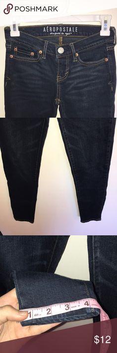 Aeropostale jeans Dark wash Aeropostale skinny jeans short length. Good condition. Aeropostale Jeans Skinny