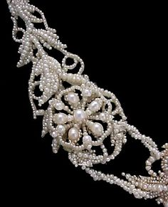 VICTORIAN Seed Pearl Bridal Necklace, c. 1850