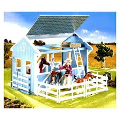 This brand NEW Classics Country Stable is loaded with fun features and it's easy to assemble, just snap together. This new design creates a home for two horses. It comes with barn with slide-out wash stall, attached saddle racks   #action #figures #kids #children #kid #child #toy #toys #Christmas #gift #gifts #wish #list #holiday #idea #ideas #KidsToyMarket $31.99