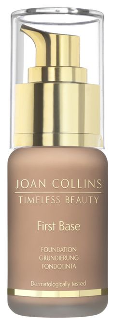 First Base - Foundation - Cool Dark #FirstbaseFoundation #Foundation #Flawless #SkinCare #Complexion #Makeup #SecondSkin #Moisturising #NaturalColour #YouthfulEnergy #IncreaseCollagen #CoolDark #cosmetics #joancollins #hollywood #redcarpet #glamour #makeup